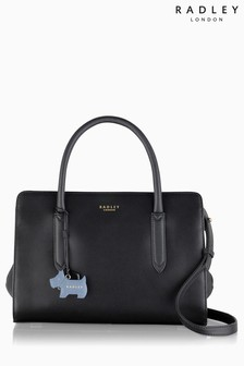Radley Black Medium Multiway Grab Zip Top Bag