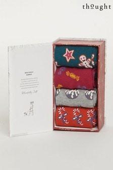 Thought Christmas Treats Sock Box