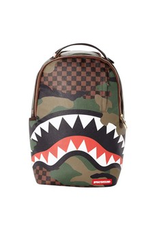 Checkered Camo Shark Backpack