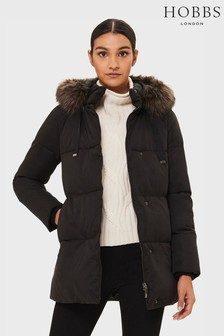 Hobbs Black Lexie Padded Jacket