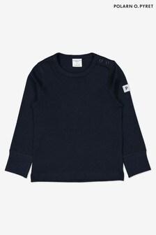 Polarn O. Pyret Blue Organic Cotton Long Sleeved Top