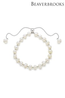 Beaverbrooks Silver Fresh Water Cultured Pearl Bracelet