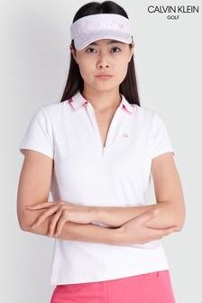 Calvin Klein Golf White Ness Cap Sleeve Polo