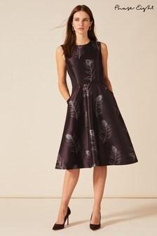 Phase Eight Purple Rosanna Jacquard Dress