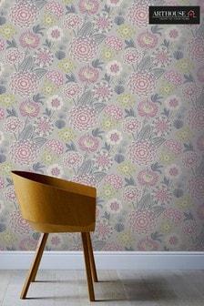 Arthouse Pink Vintage Bloom Floral Wallpaper