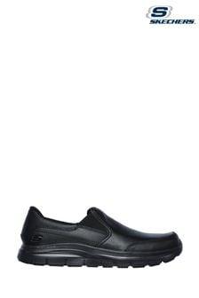 Skechers® Black Flex Advantage Bronwood Slip Resistant Wide Fit Shoes