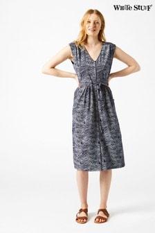 שמלה כחולה דגם Destination בסחר הוגן של White Stuff
