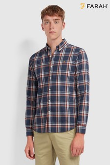 Farah Checked Brushed Cotton Steen Shirt
