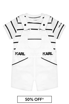 Karl Lagerfeld Baby Boys White Cotton Set