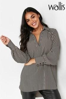 Wallis Black Monochrome Stripe Blouse