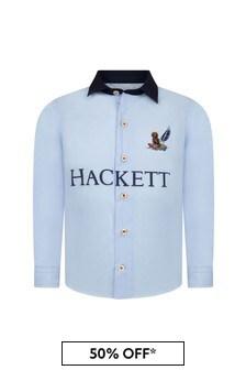 Hackett London Kids Boys Blue Cotton Shirt