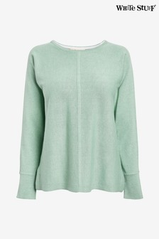 White Stuff Light Green Masterful Jumper