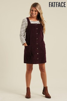 FatFace Purple Sabrina Cord Pinafore Dress