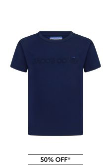 Jacob Cohen Boys Navy Cotton T-Shirt