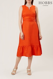 Hobbs Orange Rita Dress