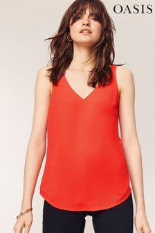 Oasis Red Formal Vest Top