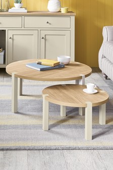 Malvern Round Coffee Nest Of Tables