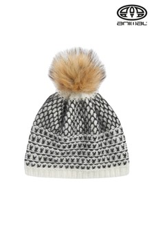 Animal Coconut Cream Annaliese Knitted Beanie
