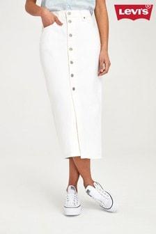 Levi's® Button Front Denim Midi Skirt
