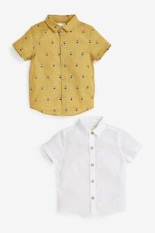 2 Pack Short Sleeve Shirts (3mths-7yrs)