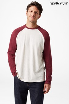 White Stuff Red Robbie Raglan Tee