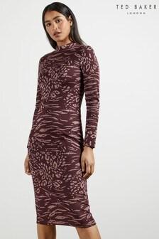 Ted Baker Deeh Long Sleeve Bodycon Dress