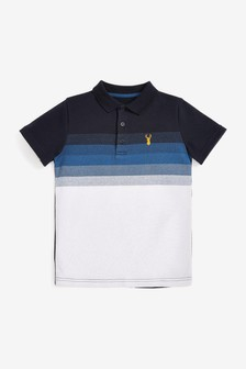 Colourblock Soft Touch Polo Shirt (3-16yrs)