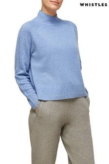 Whistles Funnel Neck Flecked Merion Wool Knit Jumper