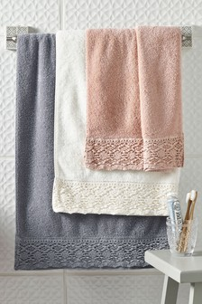 Lace Trim Towels