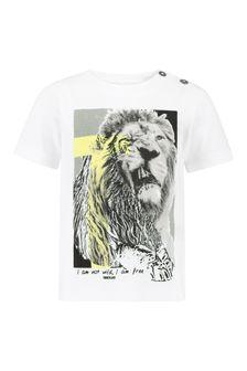 Timberland Baby White Cotton T-Shirt
