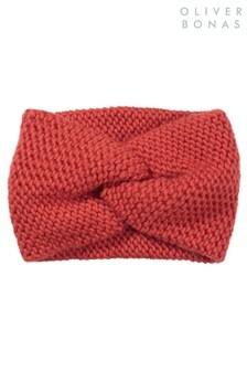 Oliver Bonas Knitted Red Headband