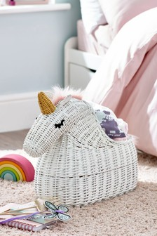 Wicker Unicorn Storage