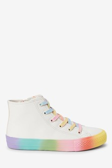 Rainbow Sole High Top Trainers (Older)