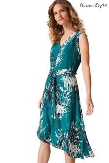 Phase Eight Green Laverne Printed Dress