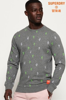 Superdry All Over Embroidered Crew Sweatshirt