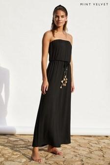 Mint Velvet Jersey Strapless Maxi Dress