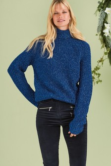 Tinsel Roll Neck Jumper