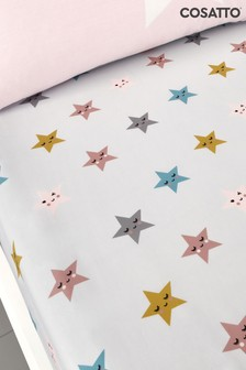 Set of 2 Cosatto Happy Stars Cot Fitted Sheets