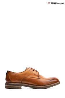 Base London® Tan Wayne Burnished Lace-Up Shoes