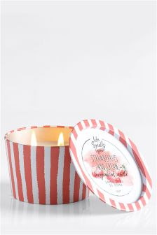 Strawberries & Cream Tin Candle