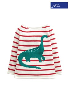 Joules Red Barney Intarsia Jumper