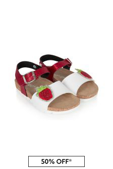 Monnalisa Girls Red Sandals
