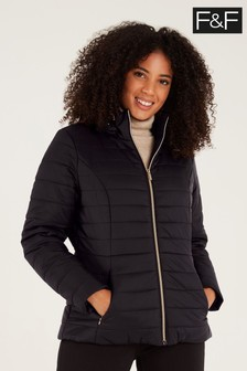 F&F Black Short Padded Coat