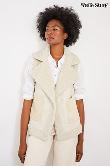 White Stuff Natural Budley Shearling Gilet