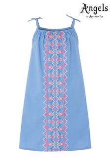 Angels by Accessorize Chambray Embroidered Dress