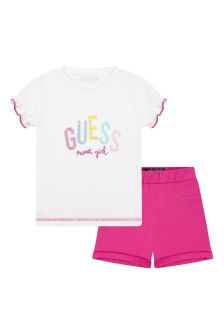Guess Baby Girls White Cotton Set