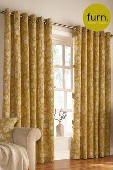 Irwin Leaf Print Curtains by Furn