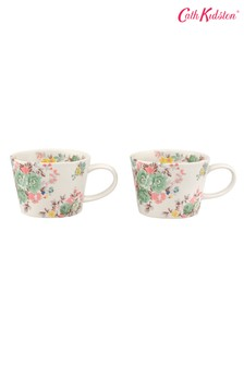 Set of 2 Cath Kidston® Organic Washed Roses Mugs