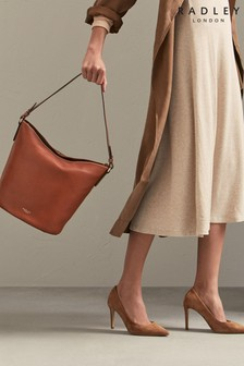 Radley London Chestnut Dove Road Large Zip Top Bucket Bag