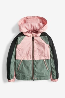 Colourblock Shower Resistant Jacket (3-16yrs)